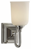 Feiss VS27001-BS Harvard Transitional Brushed Steel 10 Inch Tall Wall Lighting Fixture