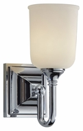 Feiss VS27001-CH Harvard Chrome Finish 10 Inch Tall Transitional Wall Sconce Lighting