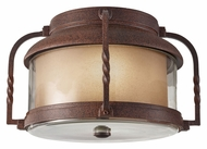 Feiss OL9213CN Menlo Park 12 Inch Diameter Outdoor Flush Mount Lighting - Cinnamon
