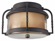 Feiss OL9213TXB Menlo Park Textured Black 12 Inch Diameter Exterior Ceiling Light Fixture