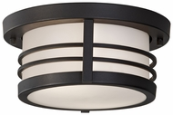 Feiss OL8313-DRC Carbondale Craftsman Flush mount 11 Inch Diameter Ceiling Lighting Fixture - Dark Chocolate Finish