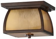 Feiss OL8513-SBR Wright House Transitional 9 Inch Wide Flush Mount Light Fixture - Sorrel Brown
