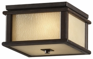 Feiss OL7913WOBZ Adana Craftsman Flush Mount Outdoor Ceiling Light