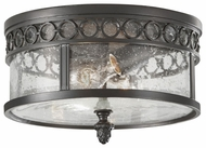 Feiss OL7813BSB Chancellor Classical Exterior Flush Mount Ceiling Light