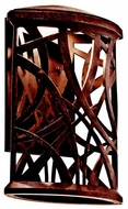 Kichler 49248AGZLED Maya Palm Rustic Small Outdoor LED Wall Sconce