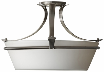 Feiss SF302-BS Spectra Transitional 20 Inch Diameter Brushed Steel Semi Flush Lighting