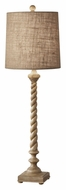 Feiss 10138MAW Castello Raw Linen Shade 33 Inch Tall Wooden Table Light