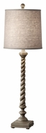 Feiss 10138WGY Castello 33 Inch Tall Weathered Gray Finish Table Lamp Light