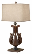 Feiss 10145DAW Fleuron 31 Inch Tall Traditional Wooden Lighting Table Lamp