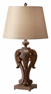 Feiss 10146DAW Fleuron Traditional Dark Aged Wood 31 Inch Tall Table Lighting