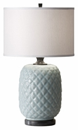 Feiss 10148DGY Ceramica 23 Inch Tall Dover Grey Table Lamp Light