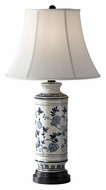 Feiss 10158BL/WT Canyon Creek 29 Inch Tall White Silk Shade Pottery Lamp