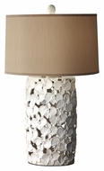 Feiss 10161WT/TP Garden Relic White 28 Inch Tall Floral Pattern Sculpt Lighting Table Lamp