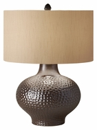 Feiss 10165IB Ceramica Iridescent Bronze 25 Inch Tall Transitional Ceramic Lamp