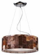 ELK 19095/3 Trevett Stone Mosaic Medium 16 inch Diameter Drum Pendant Lighting - Polished Chrome Finish