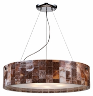 ELK 19096/5 Trevett Large 24 Inch Diameter Stone Mosaic Pendant Drum Light