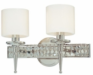 Troy B1922PN Collins 2 Light Diamond Crystal Wall Vanity Fixture