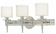 Troy B1923PN Collins 3 Light Diamond Crystal Wall Vanity Fixture