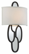 Troy B3472 Chime 20 Inch Tall Mirror Large Charred Copper Finish Wall Sconce Light