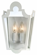 Troy B3482 Rhodes White Traditional 2 Lamp Sconce Lighting - 12 Inches Tall