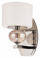 Troy B2851PN Fizz Colored Glass 9 Inch Tall Contemporary Polished Nickel Wall Light Sconce