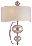 Troy B2862PN Fizz Contemporary Colored Glass 2 Lamp Wall Lamp - Polished Nickel