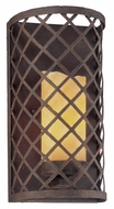 Troy B2681 Sienna 11 Inch Tall Transitional Caged Faux-Candle Wall Lighting With Burnt Sienna Finish