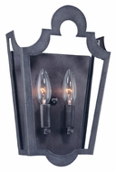 Troy B2572 Rhodes 12 Inch Tall Old Silver 2 Candelabra Wall Sconce Light Fixture
