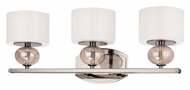 Troy B2853PN Fizz Polished Nickel 22 Inch Wide 3 Lamp Vanity Lighting Fixture With Colored Glass