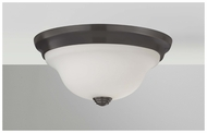 Feiss FM360ORB Beckett Contemporary Small Flush Mount Ceiling Light in Oil Rubbed Bronze