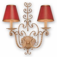 Troy B9801BW Holly Hill Red Tole Hand-wrought Iron Rustic Sconce with Biron White Finish