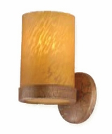 Troy B9161FG Lumiere Hand-Worked Wrought Iron Single Bulb Caramel Wall Sconce with Florentine Gold Finish