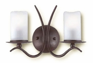Troy B9222OR Avalon 2 Bulb Antique White Hand-Forged Iron Wall Sconce with Old Rust Finish