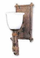 Troy B8731HK Cheyenne Amber Gradated Hand-Worked Iron with Leather Accent Rustic Single Wall Sconce