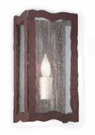 Troy B9331OR Whitney Seedy Glass Hand-Worked Wrought Iron Single Bulb Wall Sconce with Old Rust Finish