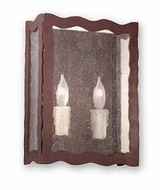 Troy B9332OR Whitney Seedy Glass Hand-Worked Wrought Iron Double Bulb Wall Sconce with Old Rust Finish