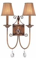 Troy B1792-SBZ Orleans 2 Light Wrought Iron Wall Sconce