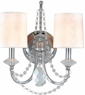 Troy B1640PC Fountainbleau 2 Light White and Chrome Bath Wall Lighting Fixture