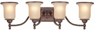 Troy B1494HL Waldorf 4 Light Amber and Heirloom Vanity Wall Lighting Fixture