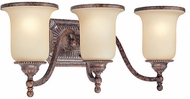 Troy B1493HL Waldorf 3 Light Amber and Heirloom Vanity Wall Lighting Fixture