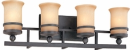 Troy B1224NR Ranier 4 Light Iron Rust Vanity Wall Lighting Fixture