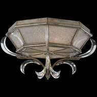 Fine Art Lamps 704240 Beveled Arcs 2-light Flush Mount Traditional Crystal Ceiling Lighting