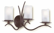 Troy B9223OR Avalon Triple Bulb Antique White, Hand-Forged Iron Bathroom Lighting Fixture with Old Rust Finish