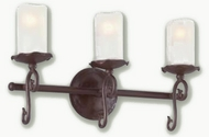 Troy B9263OR Provence Antique White 3 Bulb Bathroom Lighting Fixture with Old Rust Finish