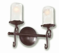 Troy B9262OR Provence Antique White Double Bulb Bathroom Lighting Fixture with Old Rust Finish