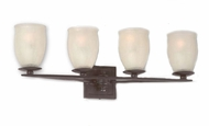 Troy b9554ai Liberty Ivory Crackle Hand-Worked Wrought Iron 4 Bulb Bathroom Lighting Fixture with Aged Iron Finish