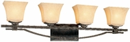 Troy B1694-FI Taos 4 Light Forged Iron Vanity Fixture