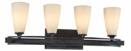 Troy B1684FR Palisade 4 Light Wrought Iron Vanity Fixture