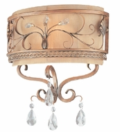 Troy B1952SBZ Heirloom 2 Light Wrought Iron Wall Sconce