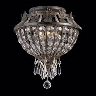 Crystorama 5163-EB-CL-MWP Vanderbilt 11 inch crystal semi flush mount in English bronze finish